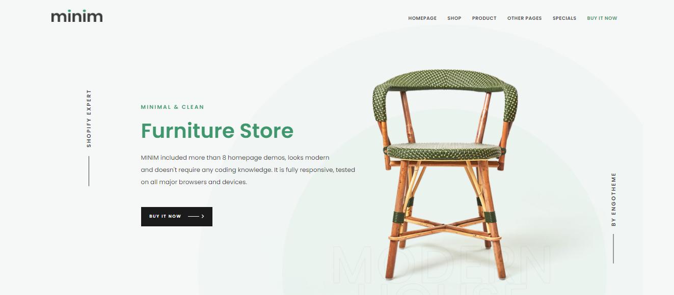 Minim - Shopify bookstore theme
