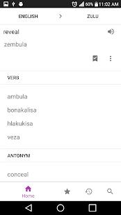 Zulu Dictionary - náhled