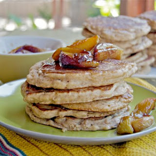 Spelt Pancakes with Caramelized Peaches Recipe