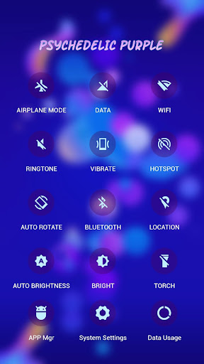 Dreamy Purple APUS Launcher theme - screenshot
