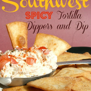 Southwest Spicy Tortilla Dippers and Dip