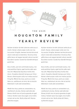 Family Yearly Review - Newsletter item