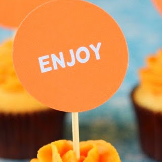 Orange Cupcakes.