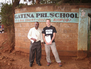 Photo: Francis Wanjala and WIll Ruddick outside the launch venue