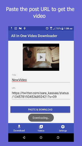 All In One Video Downloader 2.5 screenshots 1