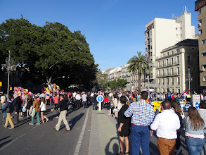 Photo: The Alameda  Principal is closed to all traffic except that of the religious processions