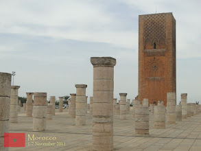 Photo: The mosque was also left incomplete, with only the beginnings of several walls and 200 columns being constructed.