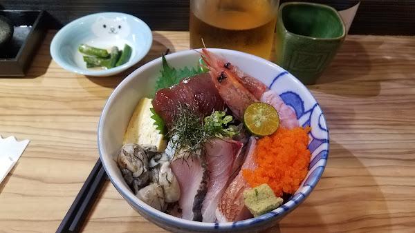 可以食到肥美的海產,甘香的米飯,非常幸福。