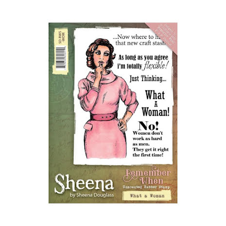 Sheena Douglass Remember When A6 Rubber Stamp - What a Woman UTGÅENDE