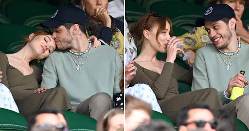 Phoebe Dynevor and Pete Davidson can't keep eyes off each other as they cosy up at Wimbledon