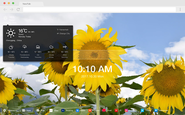 Flower New Tabs HD Popular Photography Theme