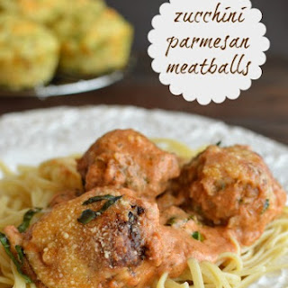 Zucchini Parmesan Meatballs in Creamy Tomato Sauce