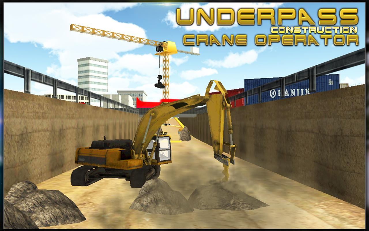 Bridge Builder Crane Underpass