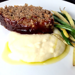 Meatloaf with Balsamic Brown Sugar Glaze.