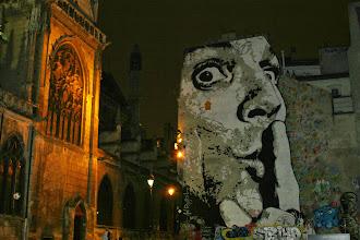 Photo: Street art - Jef Aerosol  -Paris IVe - place Stravinsky