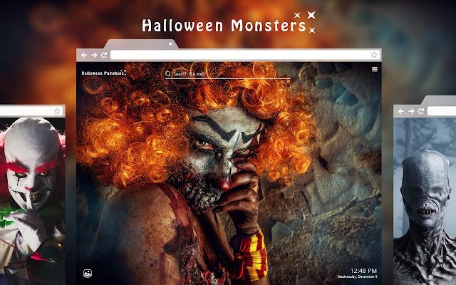 Halloween Monsters HD Wallpaper New Tab Theme