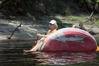 Photo: Joy paddling on the Suwannee