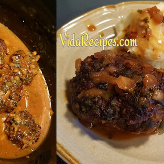 Crockpot Salisbury Steak.
