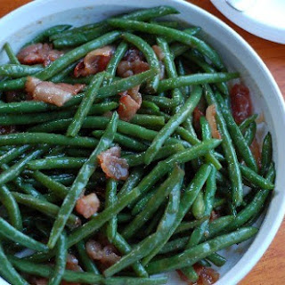 Brown Sugar and Bacon Green Beans.
