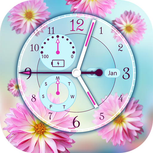 Flower Clock Live Wallpaper file APK for Gaming PC/PS3/PS4 Smart TV