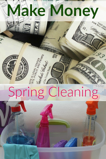 How to make money while you spring clean! Get motivated to clean up when you see how easy it is to make money while you do it.