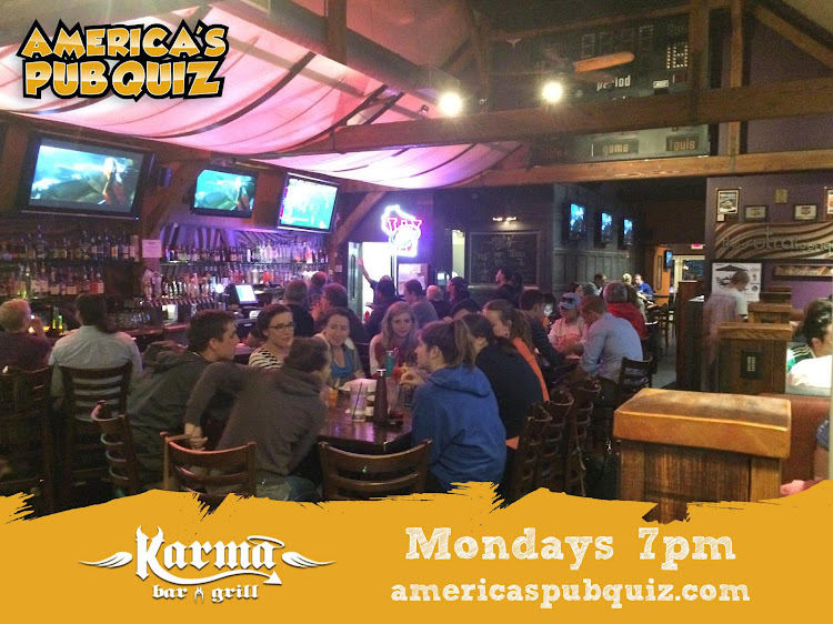 Logo for America's Pub Quiz Trivia @ Karma Bar and Grill