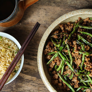 Dry-Fried Long Beans and Minced Pork with Olive Vegetables Recipe