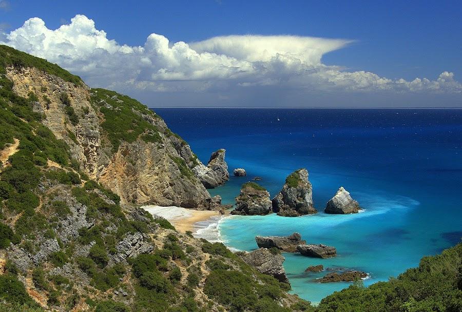 Praia do Cavalo by Joaquim Machado - Landscapes Beaches ( beach sea atlantic nature sesimbra portugal )
