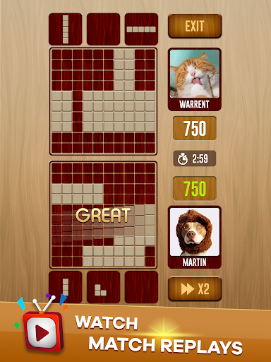 Woody Battle Block Puzzle Dual PvP 3.0.8 screenshots 17