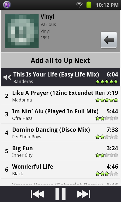 Remote for iTunes DJ&UpNext- screenshot