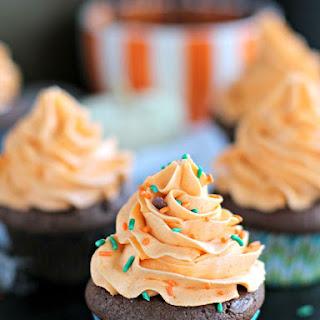 Pumpkin Brownie Cupcakes