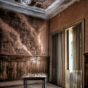 No more dinners by Laurentzi Martinez Morilla - Buildings & Architecture Office Buildings & Hotels ( urbex, lost, hdr, window, table, hotel, forgotten, abandoned )