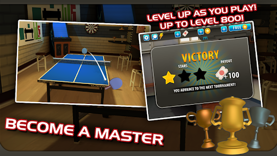 Ping Pong Masters 1.1.4 MOD + APK + DATA Download 3
