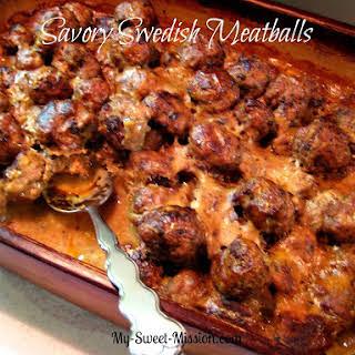 Savory Swedish Meatballs.