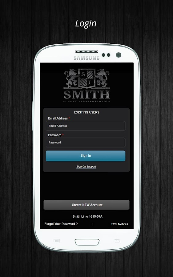 Smith Limousine Service- screenshot