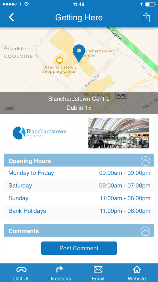 Blanchardstown Centre- screenshot