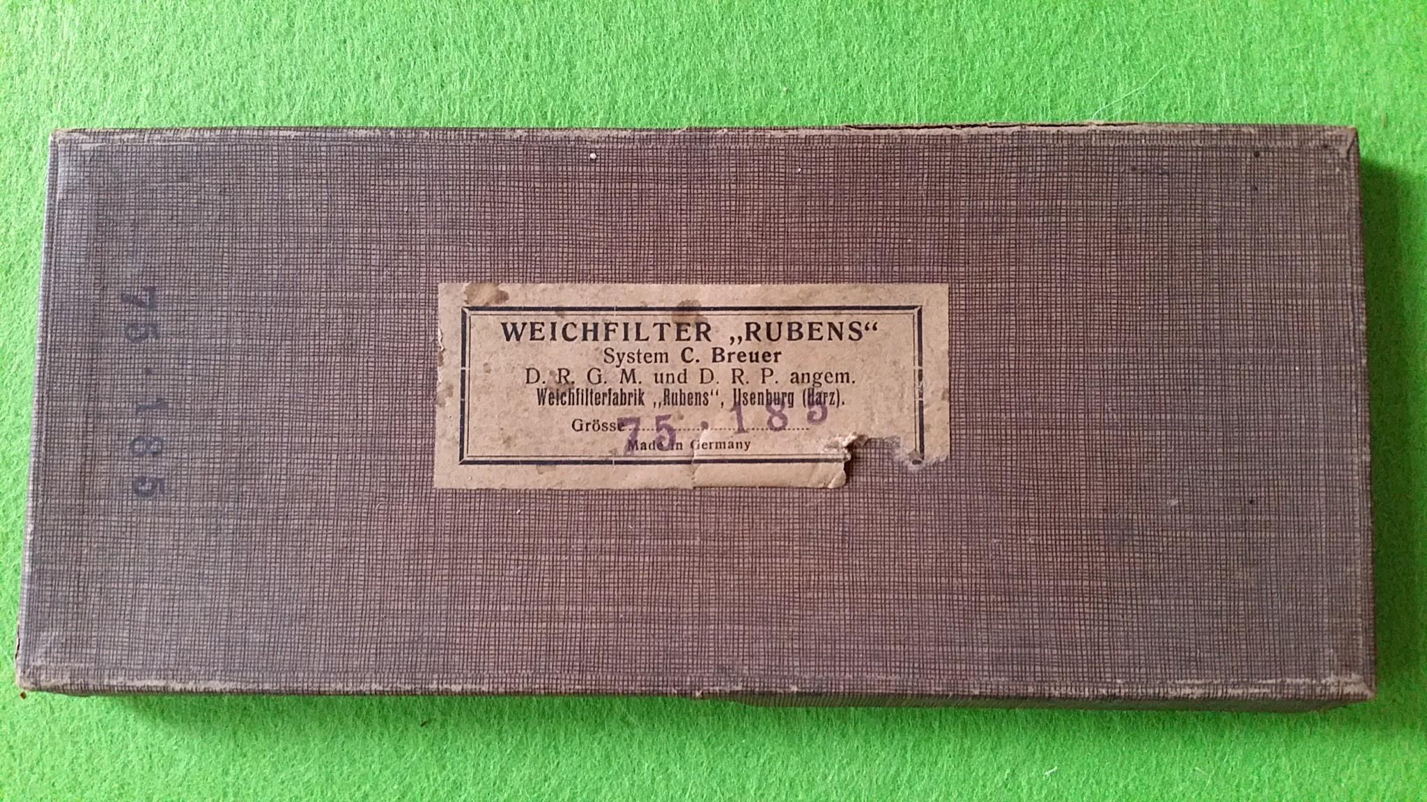 Weichfilter Rubens, Weichfilterfabrik Ilsenburg (Harz)
