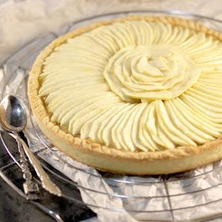 Apple Pie with Vanilla Sauce.