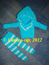 "Photo: №BJD1. 100грн. Комплект"" Я LOVE СПОРТ"" Fairy 26cm: свитер с капюшоном+лосины"