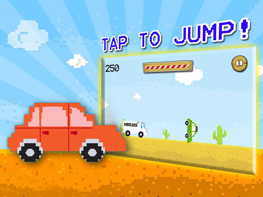 Jumpy Ambulance Racing Driving- screenshot
