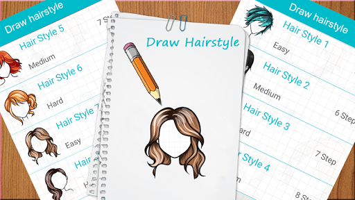 Learn to draw hairstyles - Learn to draw Hair screenshots 2