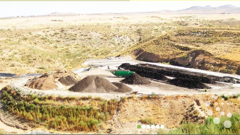 Instalaciones  de la empresa granadina Ecoindustria del Reciclado.