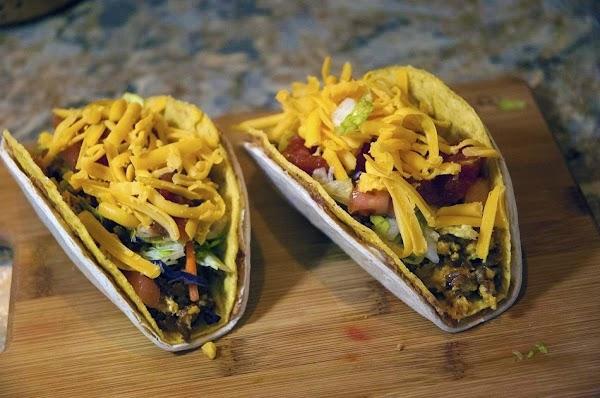 Double-shell Chorizo/scrambled Egg Tacos Recipe
