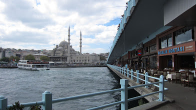 Photo: walking across the golden horn