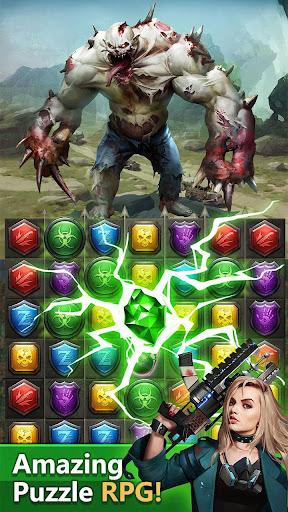 Zombies & Puzzles: RPG Match 3 apkdebit screenshots 1