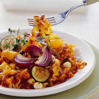 Lasagnette mit gebratenem Balsamico-Gemüse