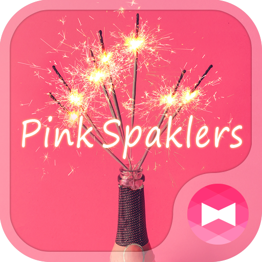 Happy Wallpaper Pink Spaklers Theme Icon