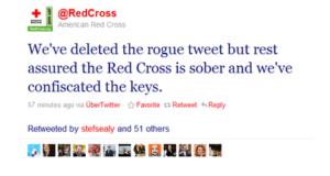 Tweet from American Red Cross Crisis Response