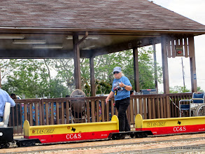 Photo: Conductor Mary Lou Pasley     HALS Public Run Day 2014-0419 RPW  12:57 PM
