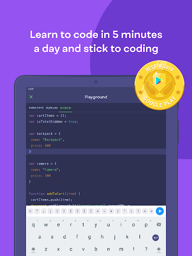 Mimo: Learn coding in JavaScript, Python and HTML 2.31 screenshots 8